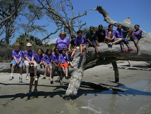 Elementary students at Jekyll Island 4-H Center.