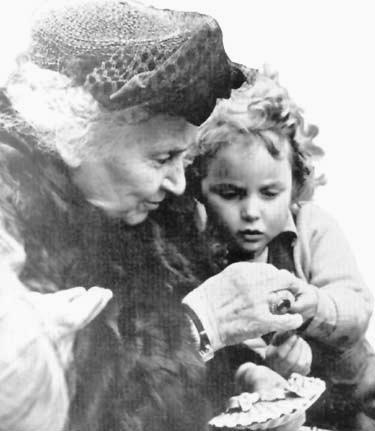 Dr. Montessori and a child